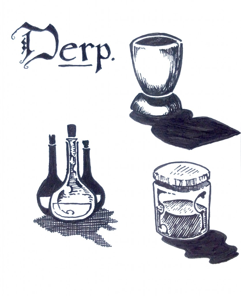 cup and potions