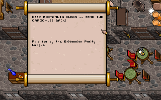 Original Keep Britannia Clean Scroll - Ultima 7