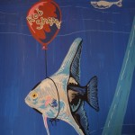 Angel fish, balloon, and Moby Dick